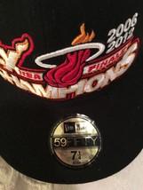 *NEW*  NEW ERA BALL CAP / HAT   SZ  7 1/4  NBA FINALS CHAMPIONS MIAMI  HEAT-RARE image 2