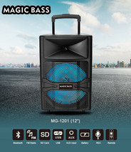 """Magic Bass 12"""" Portable Powered Rechargeable Wireless Bluetooth Speaker ... - $74.79"""