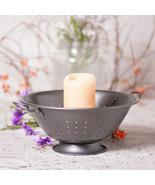 Country Kitchen Colander Centerpiece ~ Smokey Black Farmhouse Candle Holder - $24.72