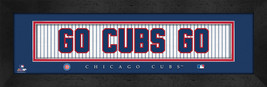 """Chicago Cubs """"Go Cubs Go"""" 8x24 Slogan Stitched Jersey Framed Print - $39.95"""