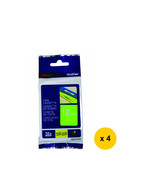 Brother Laminated 12mm Tape Cassette (4pcs), White on Lime Green, TZe-MQG35 - $79.99