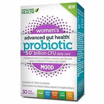 Genuine Health Advanced Gut Health Probiotics for Women's Mood Support, ... - $38.47