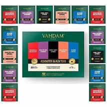 Vahdam, Black Tea Sampler, 5 Teas - Tea Variety Pack | Assorted Black Tea Bags | - $14.49