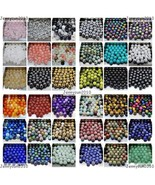 Wholesale Natural Gemstone Round Spacer Loose Beads 4mm 6mm 8mm 10mm 12m... - $1.67+