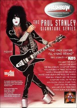 KISS Paul Stanley Washburn PS2000B Guitar Reproduction Stand-Up Display - $15.99