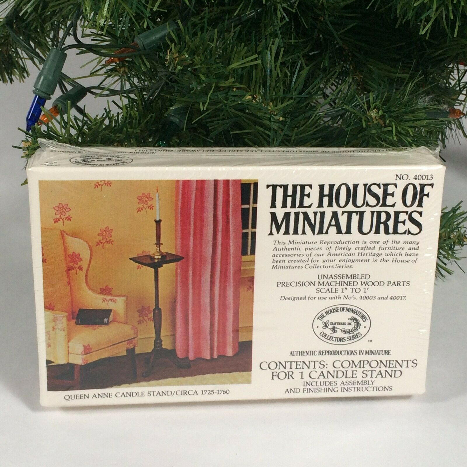 dollhouse miniature kit, Xacto house of miniatures wood queen anne candle stand - $23.68