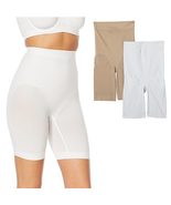 Rhonda Shear 2-pack Medium Support Longline Short (659820) , White/Nude,... - $19.79