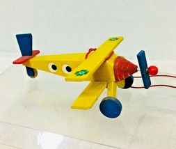 Older Steinbach Germany Yellow Airplane Christmas Tree Ornament T100 - $29.21