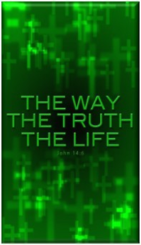 THE WAY TRUTH LIFE Christian Refrigerator Magnet
