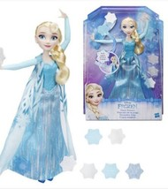 Disney Frozen Snow Powers Elsa Doll New Hasbro 3+ Winter USA Seller - $21.99