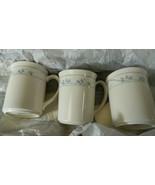CORELLE CORNING  FIRST OF SPRING BEIGE COFFEE MUGS SET OF 3 FREE USA SHIP - $14.01