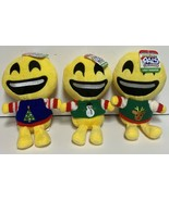 Emojeez Smiley Face Ugly Sweater Plush Doll NWT Holidazed Pals Special E... - $8.99