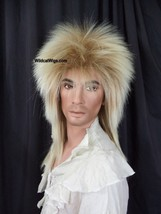 Fabulous Goblin King Bowie Jareth Wig .. Long Rocker .. Mixed Blonde Uni... - $29.99