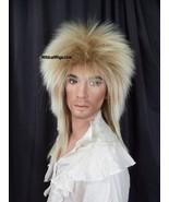 Fabulous Goblin King Bowie Jareth Wig .. Long Rocker .. Mixed Blonde Uni... - $29.99