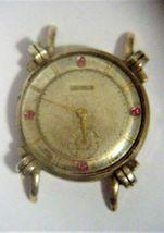 Engraved Men's Benrus Knot Lug Watch 10K RGP Rubies? #595741 Parts Repair RARE - $95.00