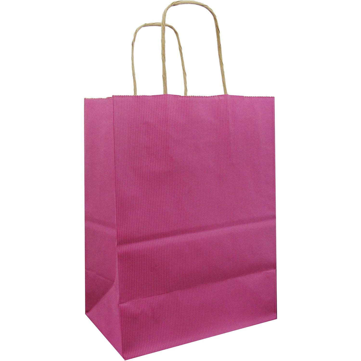 Primary image for Jillson & Roberts Medium Kraft Bags, Magenta 1 dozen (12 bags)
