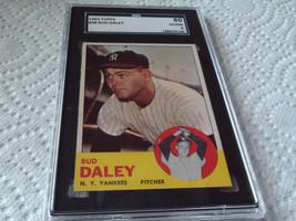 1963  TOPPS   # 38   BUD  DALEY   SGC   80   YANKEES  BASEBALL - $29.99