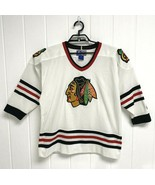 Vintage Chicago Blackhawks Starter Jersey pro hockey NHL 90s Hockey size... - $44.44