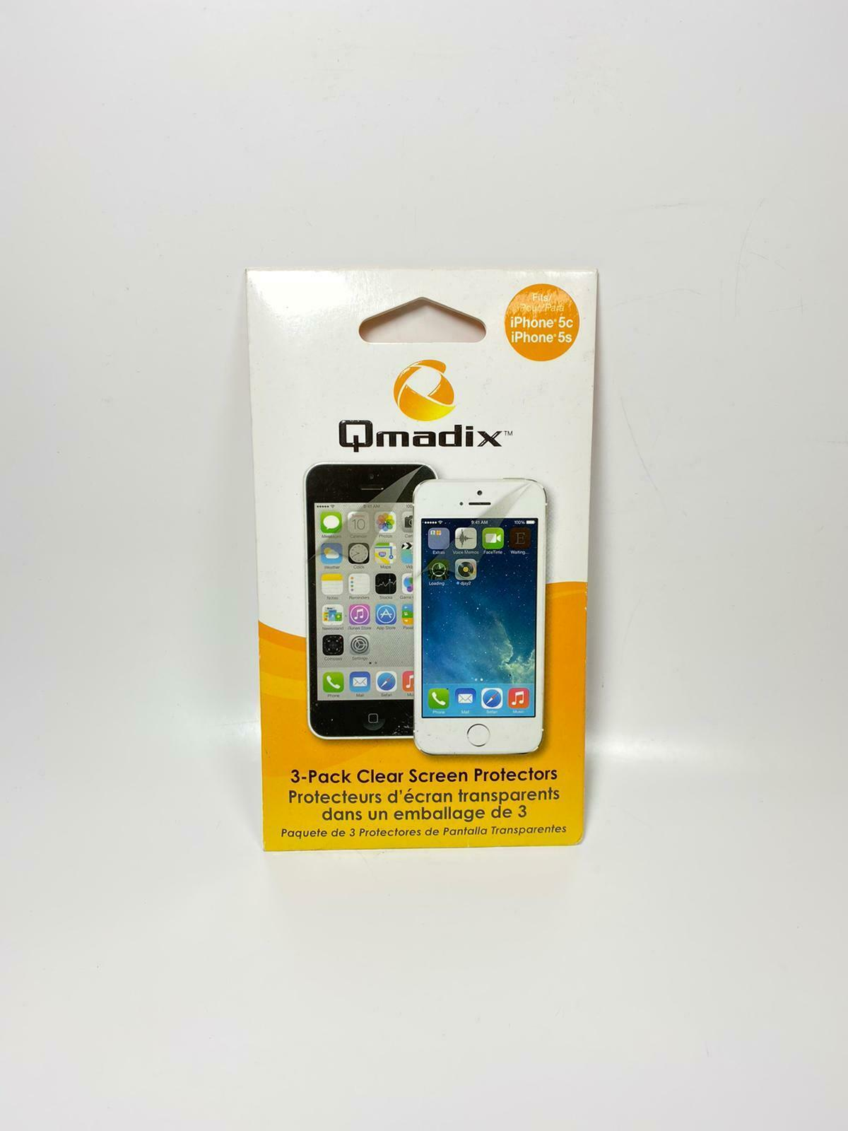 Primary image for Qmadix 3-Pack Clear Screen Protectors for iPhone5/5s/5c