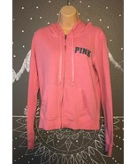 PINK victoria secret pink zip up hoodie size small - $15.00