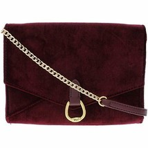 Lauren Ralph Lauren Womens Bennington Velvet Crossbody Handbag Red Small - $45.00