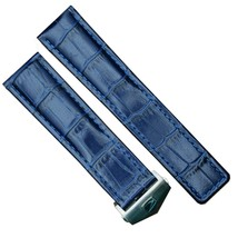 22mm Blu Pelle Cinturino Realizzato Per Tag Heuer Monaco CAW2111.FT6005 - $62.18
