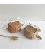 Small Back Basket Children Bicycle Handmade Tattan bag Basket kid's back... - $32.00