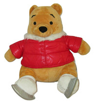 "Christmas Winnie the Pooh Plush 2011 Ice Skating Holiday 18"" Disney Store - $14.84"
