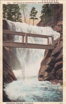 Top Falls Seven South Cheyenne Canon Colorado Springs CO 1928 Postcard B09 - $2.69
