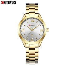 CURREN 9007 Luxury Women Watch Famous Brands Gold Fashion Design Bracelet Watche - $33.14