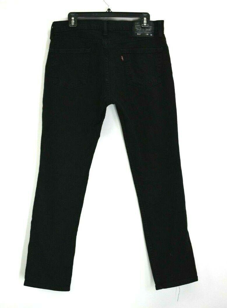 3146229b23e Levis 511s Mens 33 Pants Black Denim Jeans 5 Pockets Front Button Closure -  $21.99