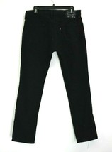 Levis 511s Mens 33 Pants Black Denim Jeans 5 Pockets Front Button Closure - $21.99