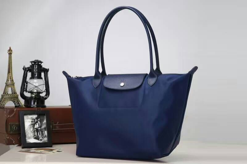 2ba169c9ff Longchamp Le Pliage Neo Nylon Blue Tote Handbag Shoulder Bag Size Large
