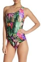 Jantzen One Shoulder Printed One-Piece Swimsuit Tropical Size 6 New - $46.24