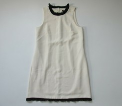 NWT J.Crew Ruffle Trim Shift  in Vintage Champagne Textured Dress 10 - $42.00