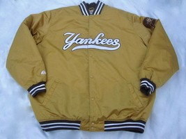 VTG New York Yankees Bronze Majestic Jacket Mens 5XL Waxed Satin - $215.00