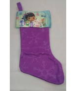 """New Doc McStuffins 18"""" Felt Christmas Stocking with Printed Satin Cuff &... - $9.49"""