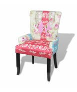 vidaXL Armchair High Back Lounge Accent Fabric Upholstery Patchwork Pattern - $116.99