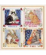 Four Seasons Cats Sudberry House #114 Cross Stitch Pattern NEW Leaflet - $3.58