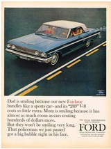 Vintage 1964 Magazine Ad Ford Fairlane Try Total Performance For A Change - $5.93