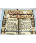 Irish Bread Linen Tea Towel by Linanne Made in Ireland 19 x 29 Recipes E... - $14.84