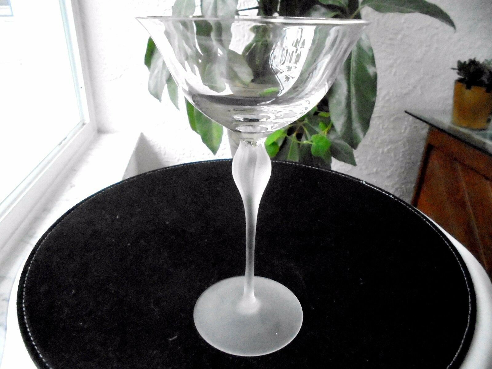 Mikasa Galleria Clear Crystal Champagne Glass 6 oz. Frosted Stem - $9.90