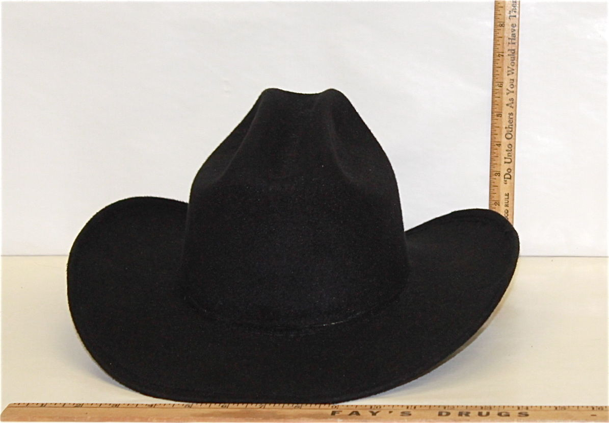 35c95cac6af Men s Black Western Cowboy Hat Pigalle Santo Nino Sombrero Mexico Felt Lg 7  3 8