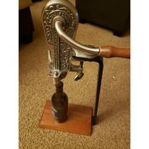 Rogar Champion 1897 Wine Opener Countertop Corkscrew W/Wood Base 23.5 in... - $183.17