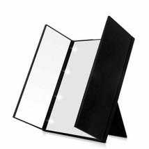 Tri-Fold Led Light Travel Makeup Mirror Pocket Vanity Mirrors with Adj... - $14.99