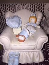 San Francisco Music Box Company...Porcelain Chair, w/doll figurine - $14.84