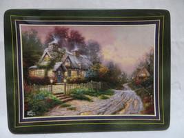 Bradford Thomas Kinkade's Porcelain Teacup Cottage Plate - $19.62