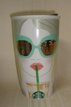 STARBUCKS 2016 ceramic LOS ANGELES double wall TRAVELER 12 fl oz TUMBLER... - $29.69