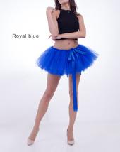 WOMEN MINI TUTU Skirt Drawstring Waist Solid Color Mini Petticoats Ballet Skirts image 4