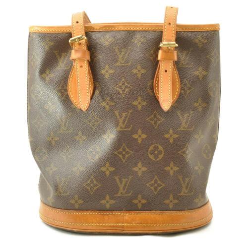 LOUIS VUITTON Monogram Bucket PM Shoulder Bag M42238 LV Auth cr194 **No Sticky image 2